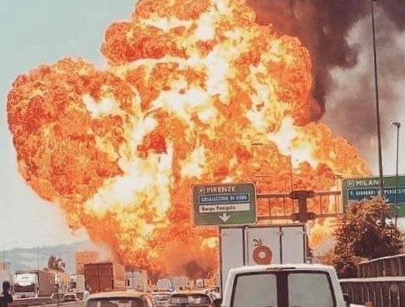 Attenzione se siete in viaggio, drammatico incendio sulla tangenziale di Bologna