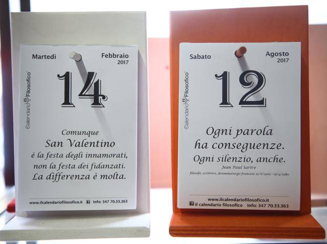 Frase Del Giorno Calendario Filosofico Frase Di Oggi.Bologna Il Segreto Del Calendario Filosofico Da Regalo A